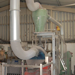 Pipe waste granulator - secure destruction